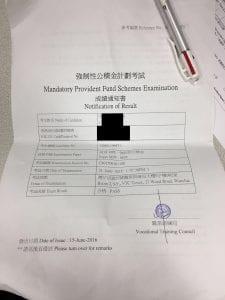 WLT 15/6/2016 MPFE 強積金中介人資格考試 Pass